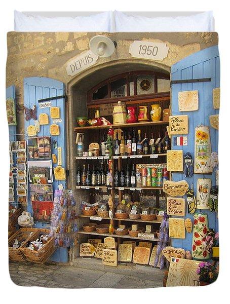 Village Shop Display Duvet Cover