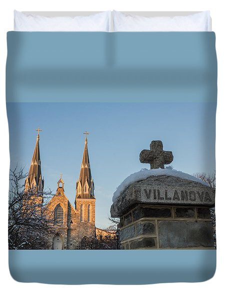 Villanova Wall And Chapel Duvet Cover by Photographic Arts And Design Studio