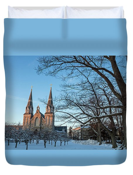 Villanova Winter Saint Thomas Duvet Cover by Photographic Arts And Design Studio