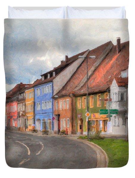 Vilseck Marktplatz Duvet Cover