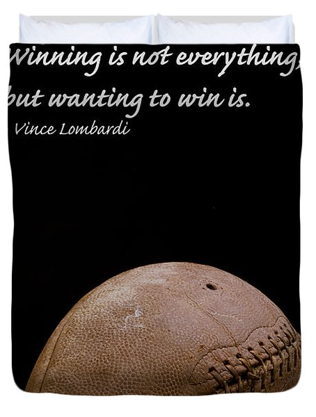 Vince Lombardi On Winning Duvet Cover