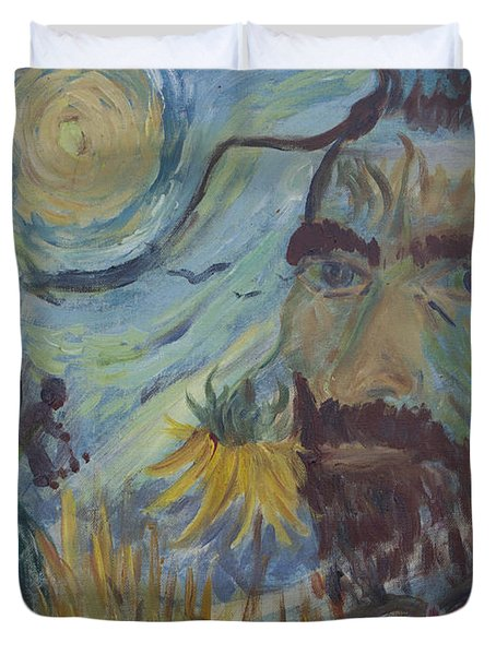 Duvet Cover featuring the painting Vincent by Avonelle Kelsey