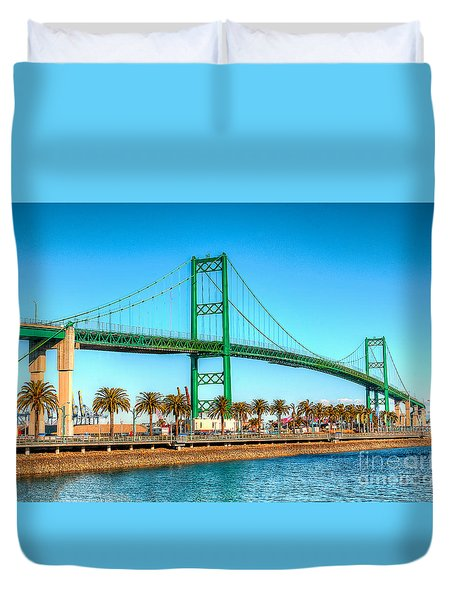 Vincent Thomas Bridge Duvet Cover