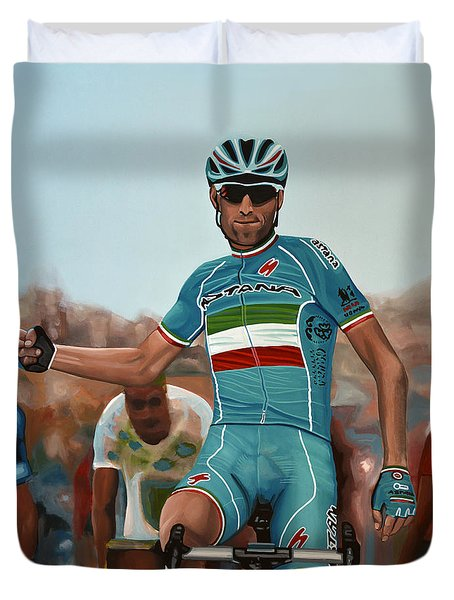 Vincenzo Nibali Painting Duvet Cover
