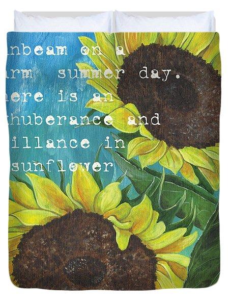 Vince's Sunflowers 1 Duvet Cover by Debbie DeWitt