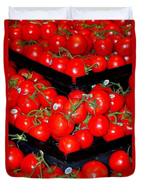 Vine Ripened Tomatoes Duvet Cover