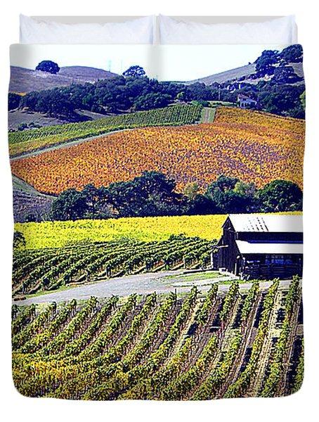 Vineyard 35 Duvet Cover by Xueling Zou