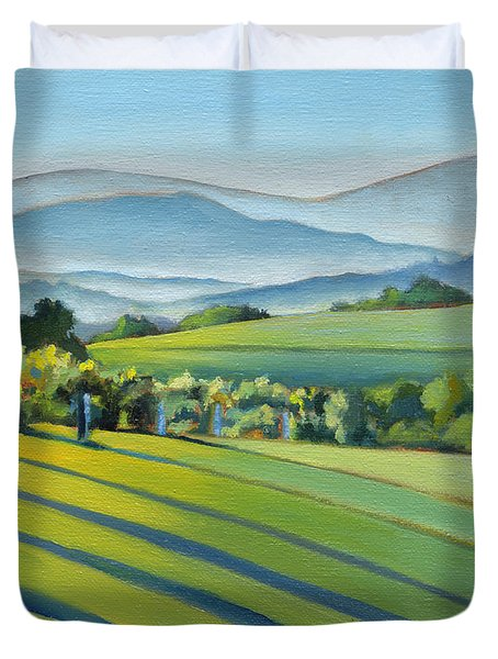Vineyard Blue Ridge On Buck Mountain Road Virginia Duvet Cover