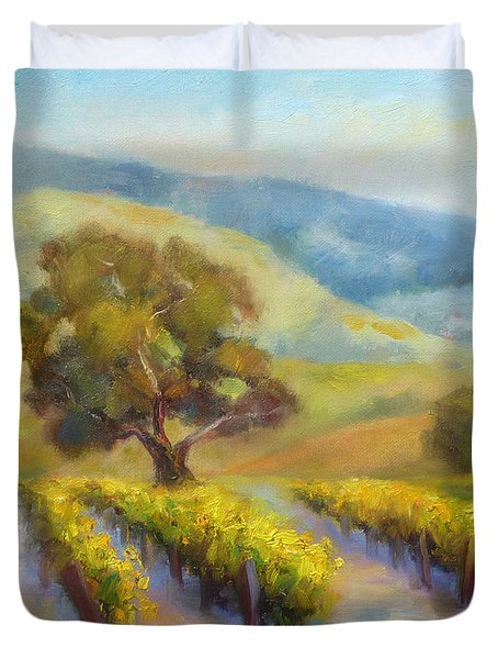 Vineyard Gold Duvet Cover