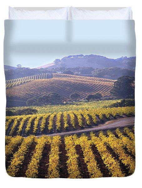 6b6386-vineyard In Autumn Duvet Cover