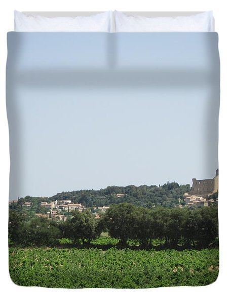 Vineyard In Provence Duvet Cover by Pema Hou
