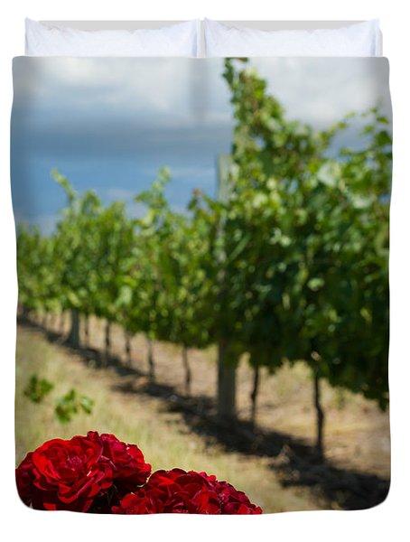Vineyard Rose Duvet Cover