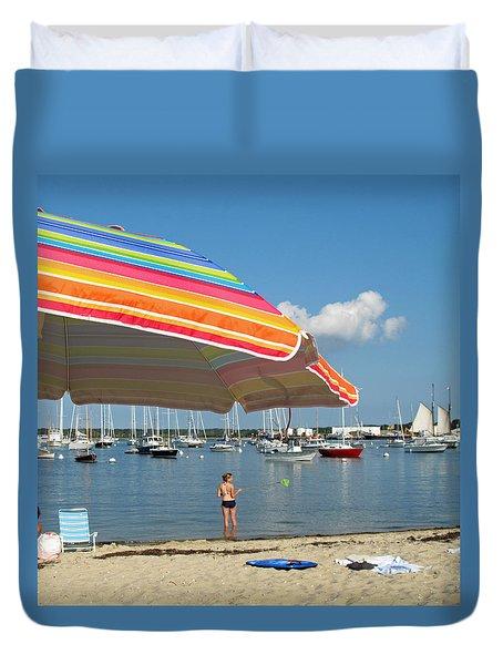 Vineyard Shores Duvet Cover by Barbara McDevitt