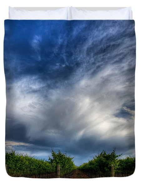 Vineyard Storm Duvet Cover