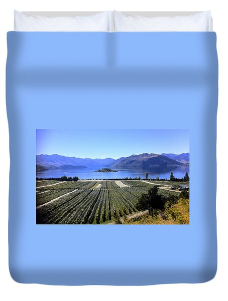 Vineyard View Of Ruby Island Duvet Cover by Venetia Featherstone-Witty
