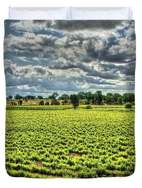 Vineyards Almost Ripe Duvet Cover