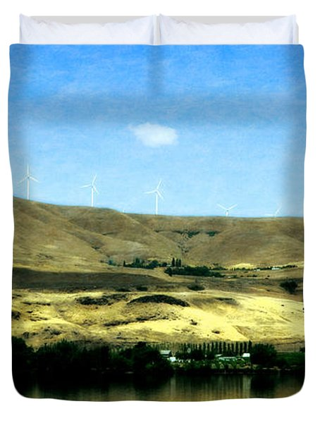 Vineyards On The Columbia River Duvet Cover