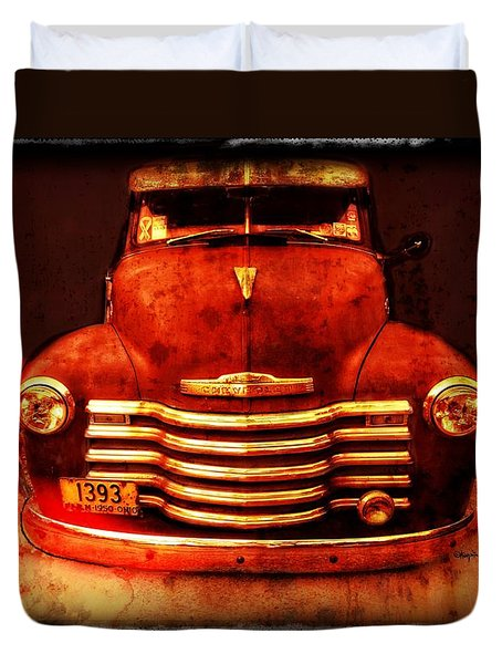 Vintage 1950 Chevy Truck Duvet Cover