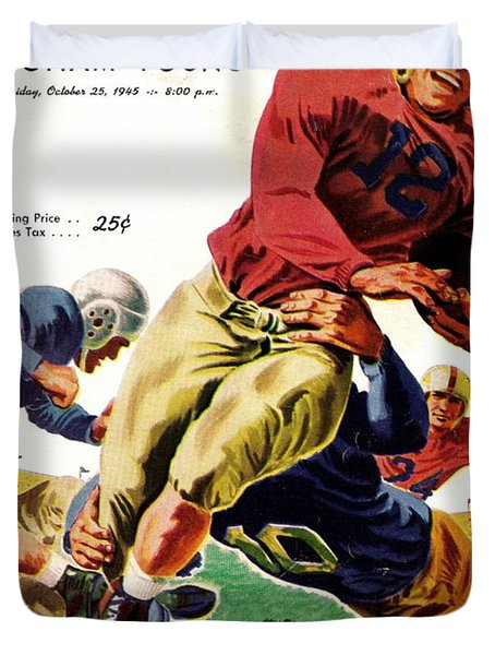 Vintage American Football Poster Duvet Cover