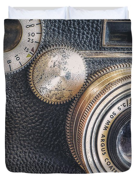 Vintage Argus C3 35mm Film Camera Duvet Cover