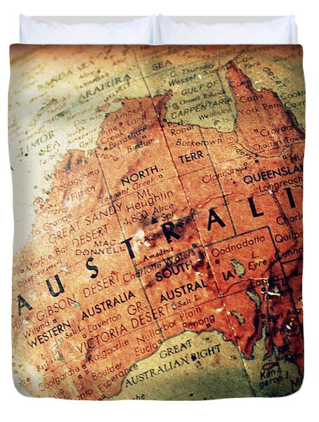 Vintage Australia Duvet Cover by Faith Williams