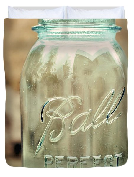 Vintage Ball Mason  Duvet Cover