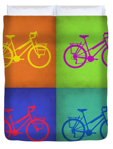 Vintage Bicycle Pop Art 1 Duvet Cover