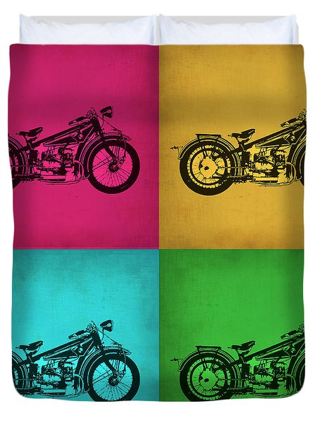 Vintage Bike Pop Art 1 Duvet Cover