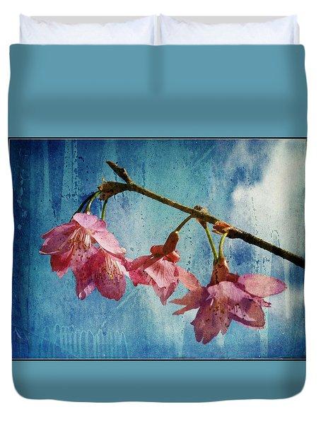 Vintage Blossoms Duvet Cover by Carla Parris
