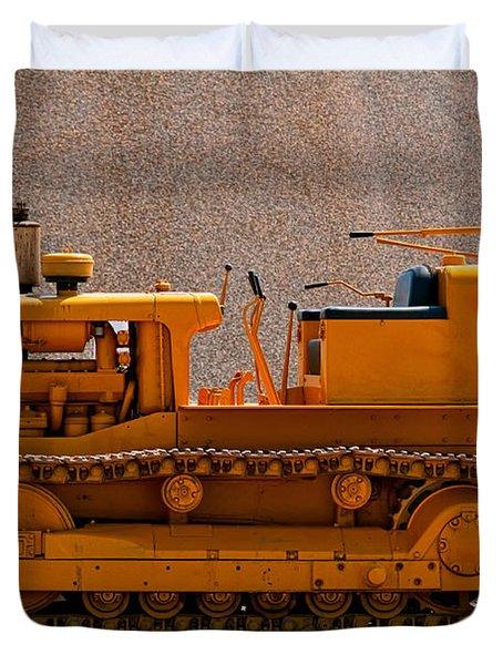 Vintage Bulldozer Duvet Cover