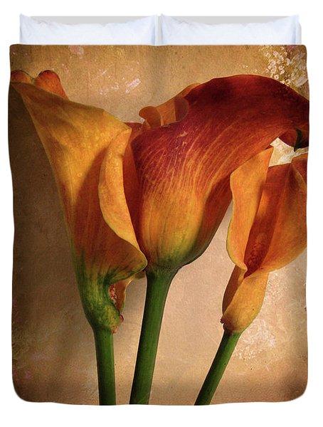 Vintage Calla Lily Duvet Cover