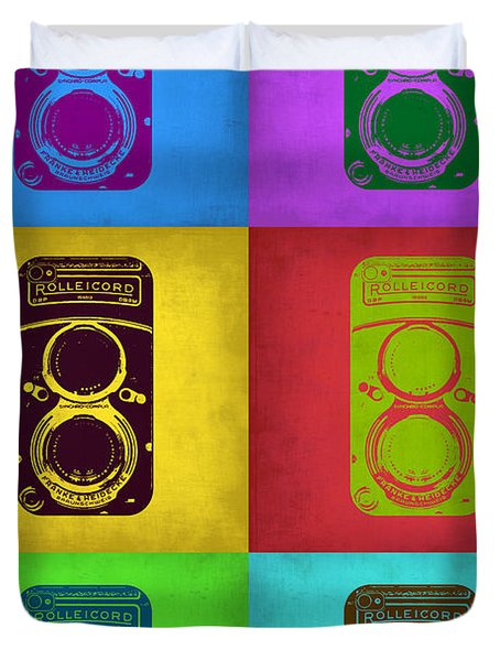 Vintage Camera Pop Art 2 Duvet Cover