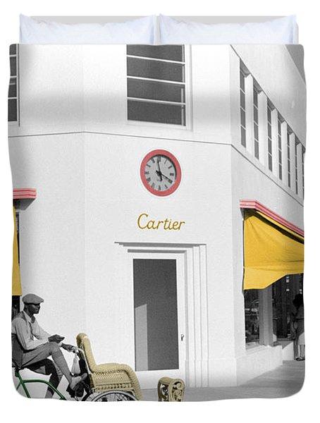 Vintage Cartier Store Duvet Cover