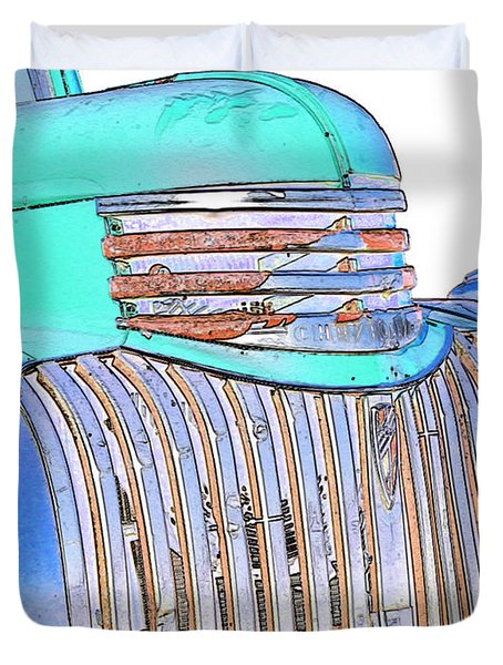 Vintage Chevrolet Pickup 3 Duvet Cover by Betty LaRue