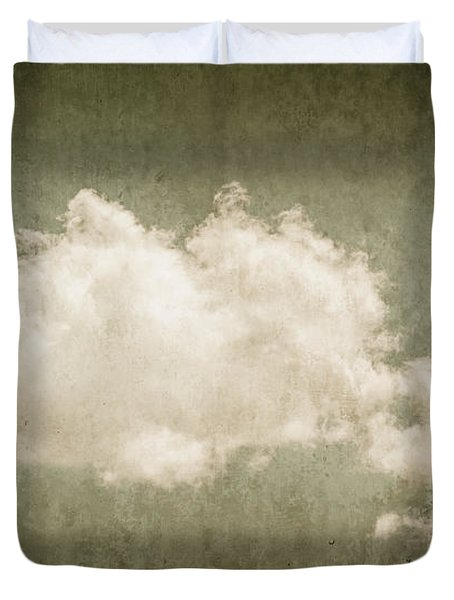 Vintage Clouds Background Duvet Cover