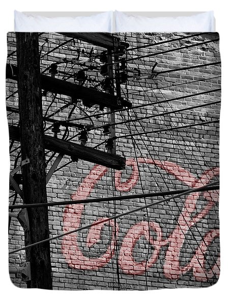 Vintage Coca Cola Sign 4b Duvet Cover by Andrew Fare
