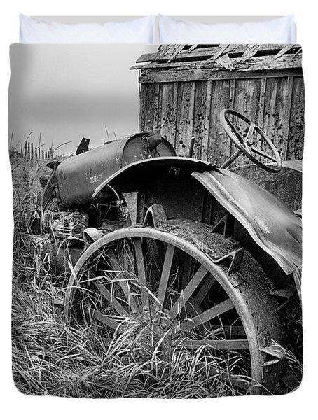 Vintage Farm Tractor Duvet Cover