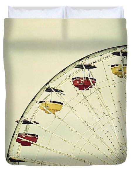 Vintage Ferris Wheel Duvet Cover by Kim Hojnacki