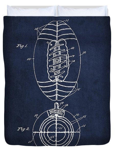 Vintage Football Patent Drawing From 1923 Duvet Cover by Aged Pixel