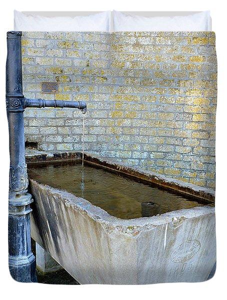 Vintage Fountain Duvet Cover
