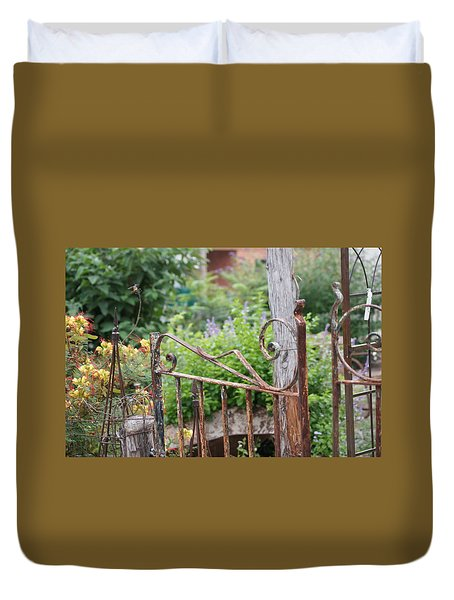 Vintage Gate Duvet Cover by Debi Demetrion