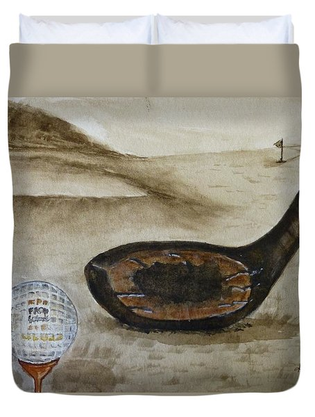 Vintage Golfing In The Early 1900s Duvet Cover