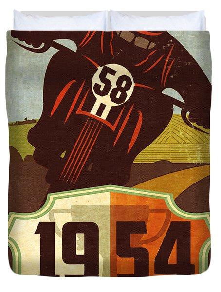 Vintage Grand Prix Spain Duvet Cover