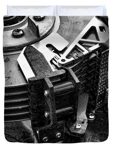 Vintage Hard Drive Duvet Cover