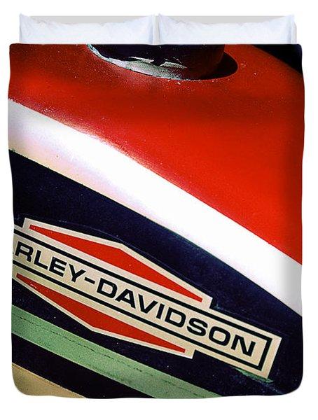 Vintage Harley Davidson Gas Tank Duvet Cover