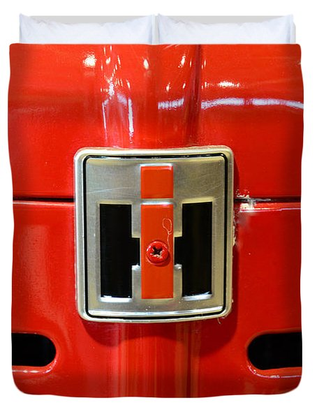 Vintage International Harvester Tractor Badge Duvet Cover