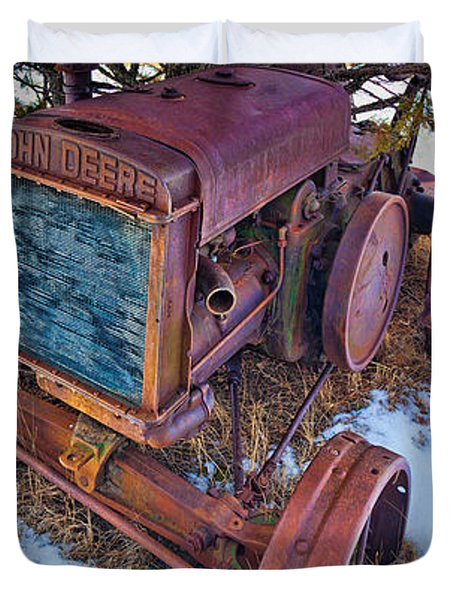 Vintage John Deere Duvet Cover by Inge Johnsson