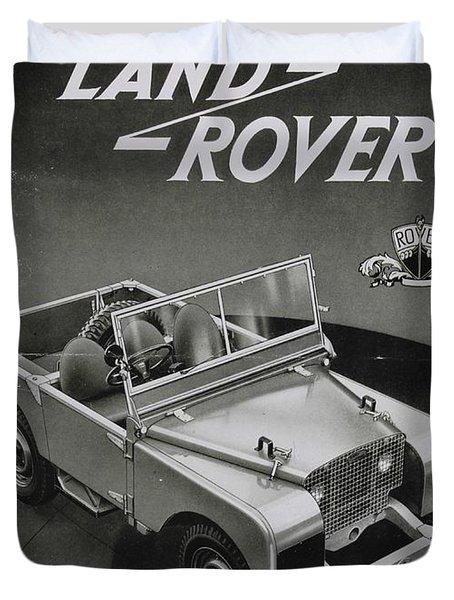Vintage Land Rover Advert Duvet Cover