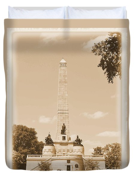 Vintage Lincoln's Tomb Duvet Cover