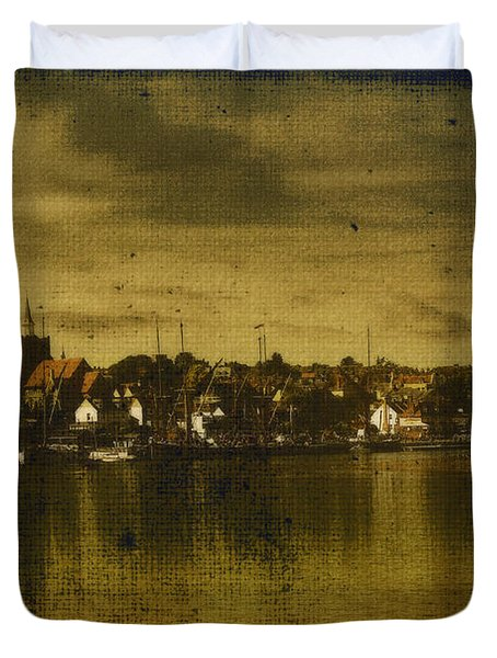 Duvet Cover featuring the digital art Vintage Maldon  by Fine Art By Andrew David